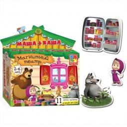 фото Игра развивающая для малыша Vladi Toys «Магнитный театр. Маша+каша»