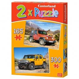 Купить Набор пазлов 2 в 1 Castorland В-021086 «Автомобили»