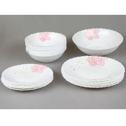 фото Набор столовой посуды Rosenberg 1252. Рисунок: роза