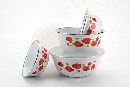 Набор мисок с крышками Mayer&amp;amp;Boch MB-4938Миски<br>Товар продается в ассортименте. Цвет изделия при комплектации заказа зависит от наличия цветового ассортимента товара на складе. Набор мисок с крышками Mayer Boch MB-4938 станет отличным дополнением к набору кухонной утвари и пригодится для хранения продуктов и готовых блюд. В комплект входят пять, различных по объему, мисок. Посуда выполнена из эмалированной стали и снабжена, герметично закрываемыми, пластиковыми крышками. Торговая марка Mayer Boch это синоним первоклассного качества и стильного современного дизайна. Компания занимается производством и продажей кухонных инструментов, аксессуаров, посуды и т.д. Функциональность, практичность и инновационные решения вот основные принципы торгового бренда Mayer Boch.<br>