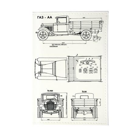 Купить Обложка для автодокументов Mitya Veselkov «Автомобиль в разрезе»