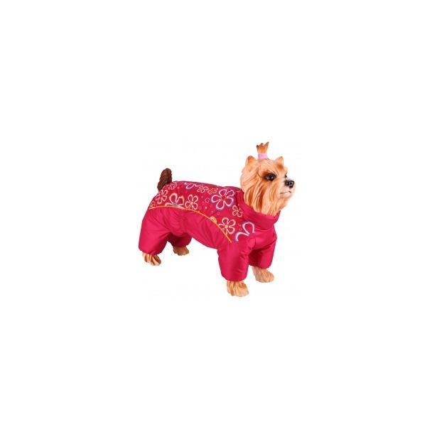 фото Комбинезон-дождевик для собак DEZZIE «Шпиц». Цвет: красный. Материал подкладки: синтепон
