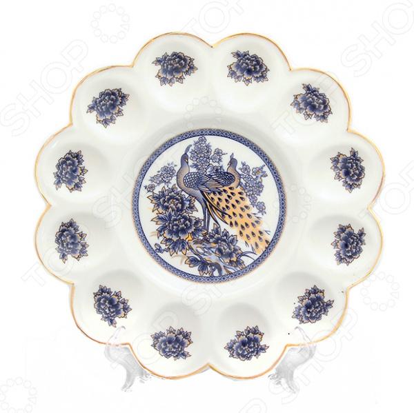 Менажница для яиц Elan Gallery «Павлин синий» 740137 блюда elan gallery блюдо для запекания павлин синий