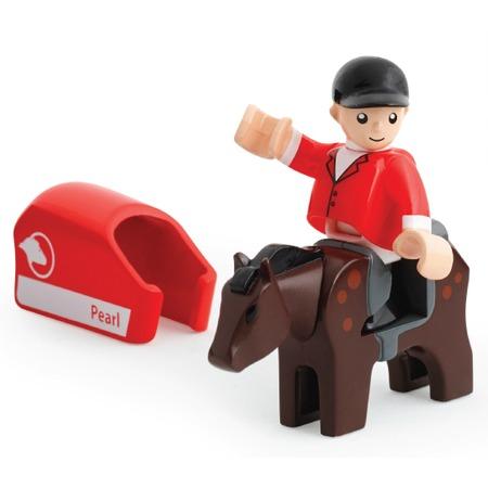 Купить Набор игровой для мальчика Brio «Лошадка с попоной и всадник»