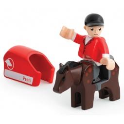 фото Набор игровой для мальчика Brio «Лошадка с попоной и всадник»