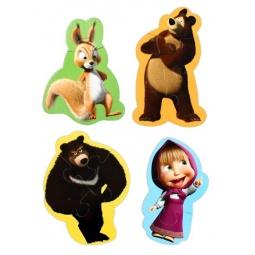 фото Пазл мягкий Vladi Toys «Белка, Маша и медведь»