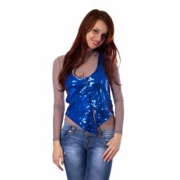 фото Жилет Mondigo 9926. Цвет: синий. Размер одежды: 44