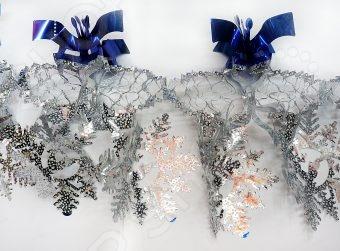 Растяжка новогодняя Новогодняя сказка «Снежинки» 972160 костюм маленькой снежинки 32