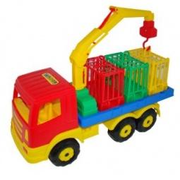 фото Машинка игрушечная Полесье для перевозки зверей 09586