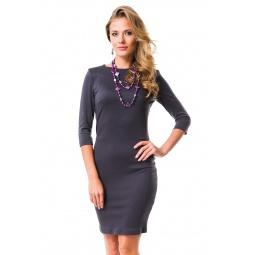 фото Платье Mondigo 5059. Цвет: темно-серый. Размер одежды: 42