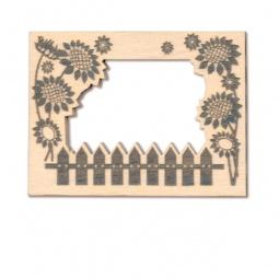 фото Фоторамка деревянная для изготовления магнита RTO «Подсолнухи»