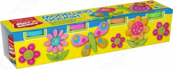 Пластилин на растительной основе большой Erich Krause Modelling Dough №2: 4 цвета