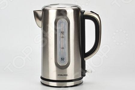 Чайник Sterlingg 10151Чайники электрические<br>Чайник Sterlingg 10151 - оригинальная и практичная модель, незаменима на любой кухне. Чайник мощностью 1800 Вт в считанные секунды вскипятит воду. Модель выполнена из высококачественной нержавеющей стали, которая при нагревании не выделяет вредных веществ.Чайник оснащен скрытым нагревательным элементом, что очень удобно он более долговечен, чем спираль, и не подвержен образованию накипи, а так же, специальным фильтром, который задерживает накипь и не позволяет ей попасть в чашку. Для безопасного использования в чайнике предусмотрена функция автоматического отключения при отсутствии воды или открытии крышки, а также встроенная защита от перегрева. Модель оснащена удобной ручкой.<br>