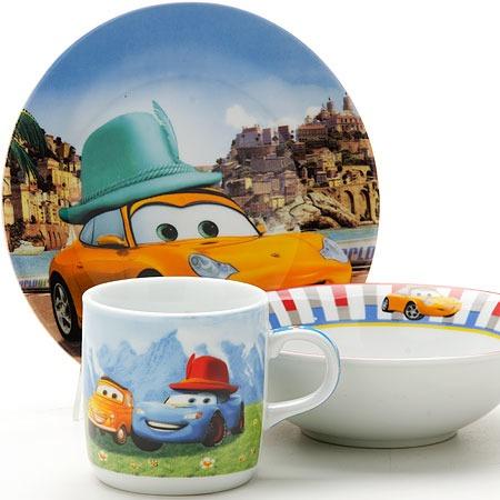 Купить Набор посуды для детей Loraine «Тачки»