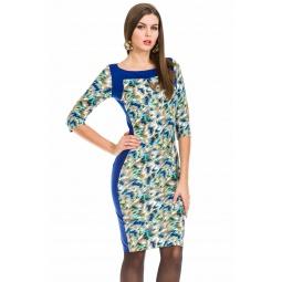 фото Платье Mondigo 5129. Цвет: голубой