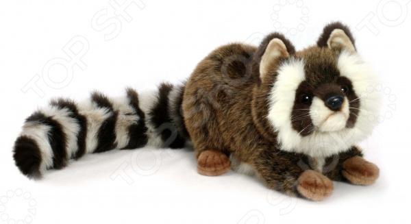 Мягкая игрушка для ребенка Hansa «Енот лежащий» мягкая игрушка енот в саратове