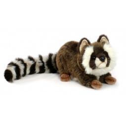 фото Мягкая игрушка для ребенка Hansa «Енот лежащий»