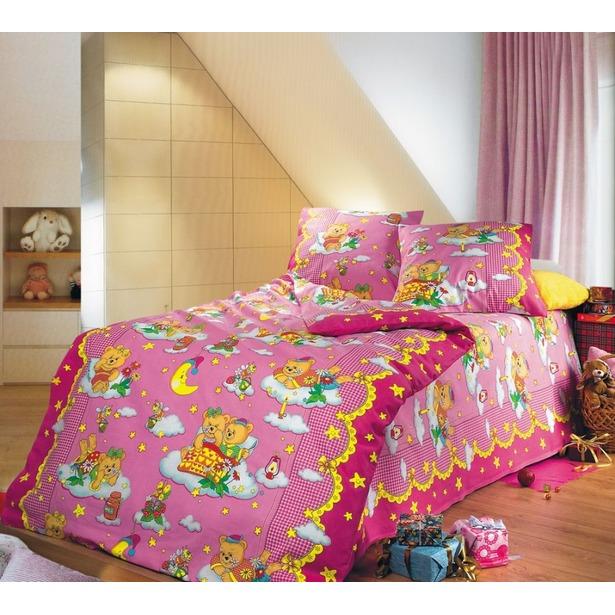 фото Ясельный комплект постельного белья Бамбино «Сладкий сон». Цвет: розовый