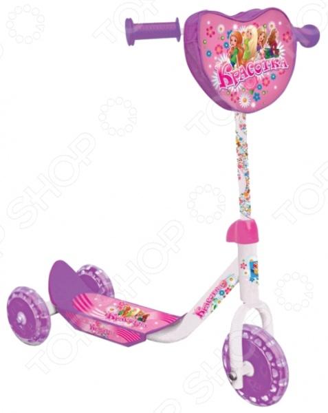 Самокат трехколесный 1 Toy Т53991 «Красотка» самокат трехколесный 1 toy т57644 peppa