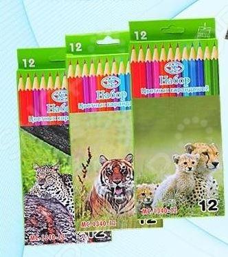 Набор карандашей цветных Miraculous «Животные». В ассортименте