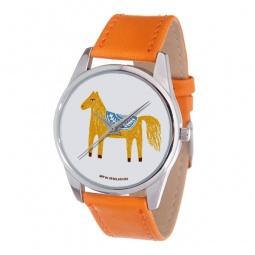 фото Часы наручные Mitya Veselkov «Лошадка карандашами» Gold. Цвет: оранжевый