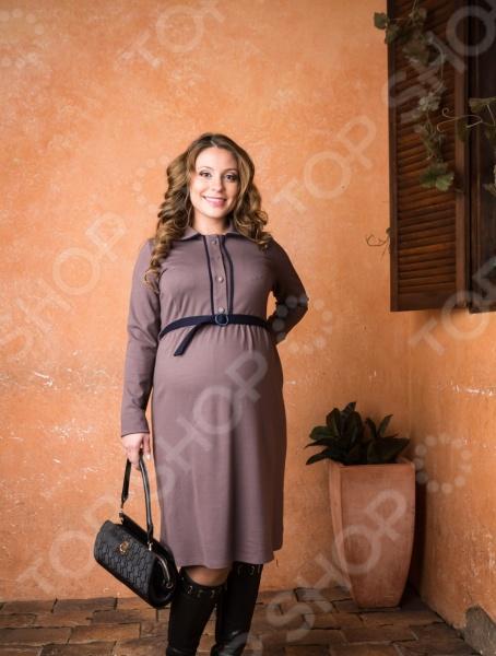 Платье для беременных Nuova Vita 2155.01. Цвет: мокко платье для беременных asos 3 14