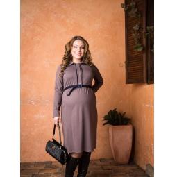 фото Платье для беременных Nuova Vita 2155.01. Цвет: мокко. Размер одежды: 48