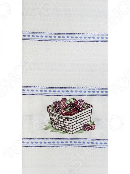 Полотенце вафельное BONITA «Ежевика в корзине» magic home закладка для книг сердечко