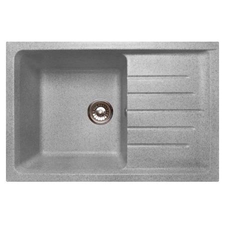 Купить Мойка кухонная GranFest Practic GF-P760L. Цвет: серый