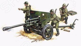 Сборная модель Звезда Советская противотанковая пушка ЗИС-3 оригинальная и интересная модель, которая станет отличным развлечением, как для детей и их друзей, так и для всей семьи. Детали набора выполнены из качественных и безопасных материалов, а все ее детали приятны на ощупь. В игровой набор входят три фигурки советских солдат и пушка.