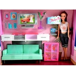 Купить Набор мебели с куклой 1 TOY «Гостиная с телевизором»