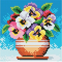 фото Набор для создания мозаики Белоснежка «Цветы в горшочке»