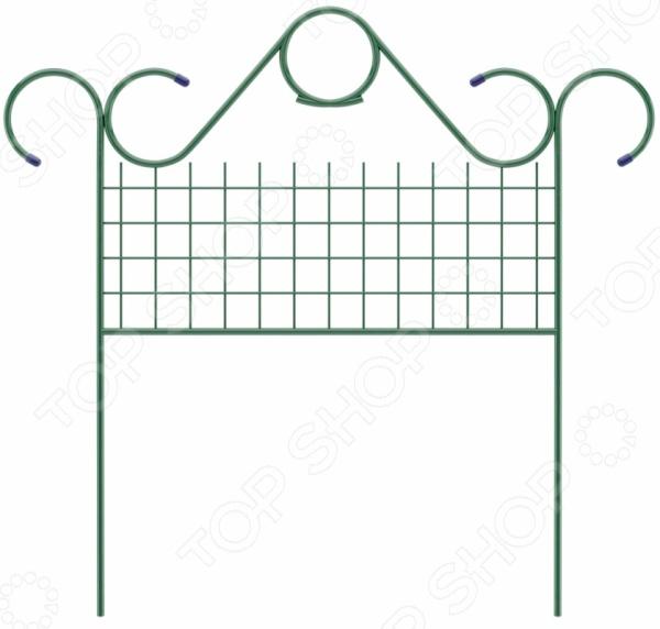 Забор декоративный «Классический» 65042Декоративные ограждения для сада<br>Забор декоративный Классический 65042 замечательный аксессуар, который украсит ваш дачный участок. Такой забор идеально подойдет для ограждения грядок, газонов, клумб и палисадников. Ажурное кованое обрамление делает изделие еще более органичным и уютным. Применение декоративного забора придаст вашим посадкам законченный и органичный вид, наполнит дачный участок невероятным уютом и комфортом. Размер 0,75х0,9м.<br>