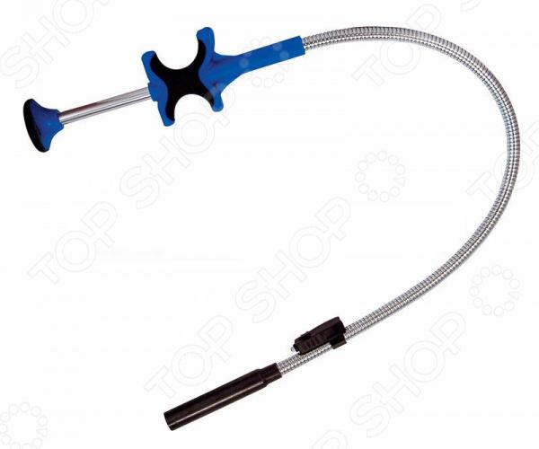 Захват гибкий магнитный King Tony KT-2129-24Магнитные инструменты. Захваты. Зеркала<br>Захват гибкий магнитный King Tony KT-2129-24 специальное приспособление, которое поможет достать мелкие металлические детали с пола или из труднодоступных мест. На кончике стержня установлен небольшой магнит. Сам стержень имеет гибкую форму, чтобы можно было удобно настраивать под определенные места. Ручка сделана из крепкого материала, имеет эргономичную форму для удобного хвата. Снабжена пружиной для телескопического эффекта. В по бокам ручки есть выемки для пальцев.<br>