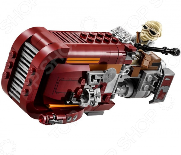 Конструктор игровой LEGO «Спидер Рей»Конструкторы LEGO<br>Не секрет, что конструкторы LEGO являются одними из самых популярных и продаваемых игрушек в мире. Компания LEGO Group начала свое существование еще 1932 году и до сих пор не сдает лидирующих позиций, ежедневно расширяя свое производство и сферу деятельности. Конструкторы этого бренда отличаются великолепным качеством исполнения и большим разнообразием игровых сюжетов. Конструктор игровой Lego Спидер Рей станет отличным подарком для вашего любимого чада и прекрасным дополнением к коллекции уже имеющихся игрушек LEGO. На этот раз малышу выпала возможность вместе с отважной воительницей Рей из 7-го эпизода схлестнуться в жестокой битве за свободу галактики. В игровой набор входит суперскоростной спидер и две минифигурки: Рей и Ункарский разбойник с ломом.<br>