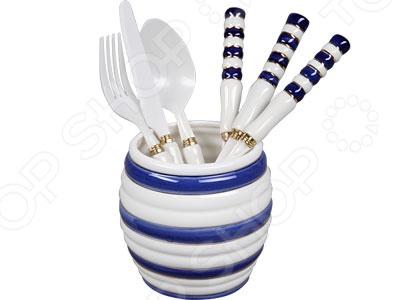 Набор столовых приборов POMIDORO R0701 Nobile Bianco