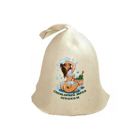 Купить Шапка для бани и сауны Банные штучки «Отшлепай меня веником»