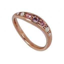 фото Кольцо Jenavi Ваниль. Вставка: Swarovski розовые кристаллы. Размер: 17