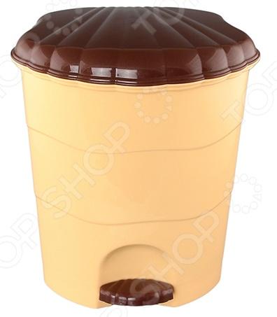 Контейнер для мусора с педалью Violet 0511 контейнер для мусора violet дерево цвет коричневый желтый 4 л