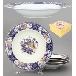 Купить Набор суповых тарелок Elan Gallery «Павлин синий»