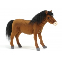 фото Мягкая игрушка для ребенка Hansa «Лошадка рыжая»