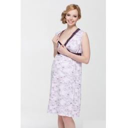 Купить Сорочка для беременных Nuova Vita 208.6. Цвет: лиловый
