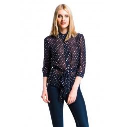 фото Блузка Mondigo 5100-3. Цвет: синий. Размер одежды: 48