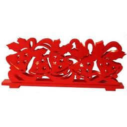 фото Декорация с подсветкой Star Trading «Танцующие колокольчики». Цвет: красный