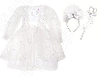 Костюм карнавальный с аксессуарами Новогодняя сказка 972148 «Снежная королева» карнавальный костюм новогодняя сказка снежная королева 70 см бел ободок палочка