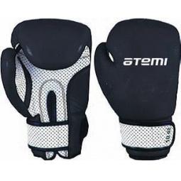 фото Перчатки боксерские ATEMI 02-005 черно-белые. Размер: 10 OZ