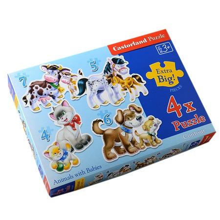 Купить Набор пазлов 4 в 1 Castorland «Животные»