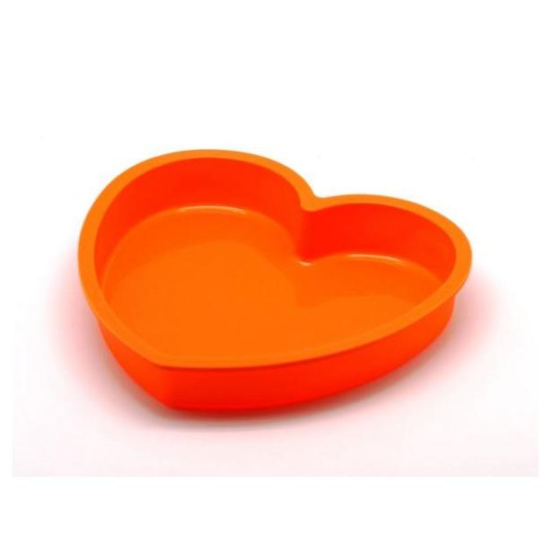 фото Форма для выпечки силиконовая Atlantis «Сердце» SC-BK-017. Цвет: оранжевый