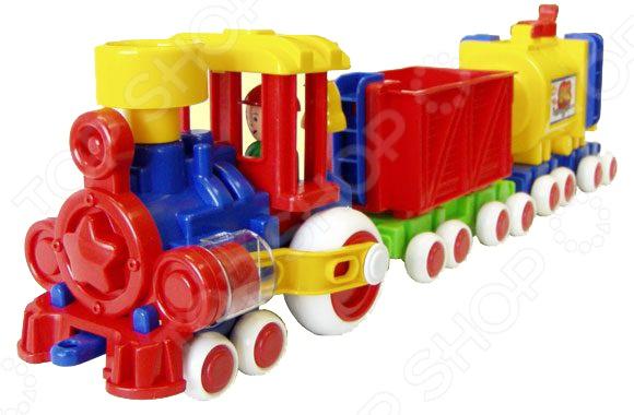 Паровозик игрушечный Форма с 2 вагонами «Ромашка» eichhorn поезд с 2 вагонами и животными