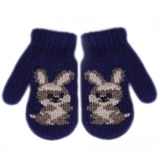 Купить Варежки вязанные для мальчиков R&I «Зайка»